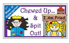 Fairytales And Fiction By 2.  Every night during the first week of Kindergarten, I am so exhausted.....I can't see straight! It made me giggle to know that my friend in Illinois was feeling exactly the same way!  Wishing all of you a calm, first week! :)