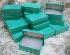 Tiffany Blue Boxes  20count 325 x 225 x 1 in Cotton by displaydiva, $6.95