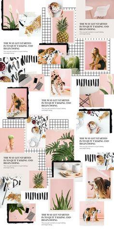 Feeds Instagram, Instagram Grid, Instagram Design, Instagram Feed Theme Layout, Instagram Collage, Insta Layout, Design Editorial, Collage Template, Instagram Post Template