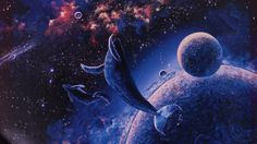 Space whales are the protectors of the space dolphin.