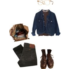 Занятия by classicalnothing on Polyvore featuring ESPRIT, Dr. Martens, Oliver Peoples, PRPS and Cheap Monday