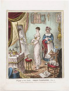 Call Number:  810.02.26.03  Creator:  Gillray, James, 1756-1815, printmaker.  Title:  Dress completed Design'd by an amateur ; Js. Gillray fect.  Related Title:  Progress of the toilet  Published:  London : Publish'd February 26th, 1810 by H. Humphrey, 27 St. James's Street, [1810]  Series Title:  Progress of the toilet ; Plate 3    Lewis Walpole Library