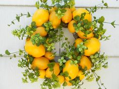 Add some citrusy cheer to the front door.