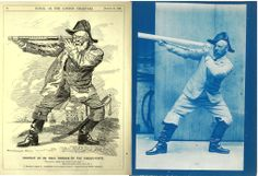 Edward Linley Sambourne modelling for one of his Punch drawings