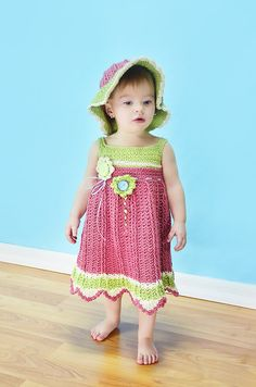 Crocheted Girls Spring/ Easter/ Church/ Flower by JoinedWithAHook, $89.00