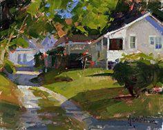 Harding Lane by Jennifer McChristian Oil ~ 8 x 10
