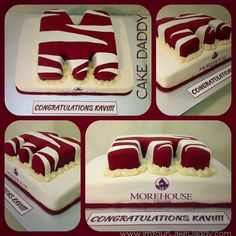 Morehouse college graduation cake
