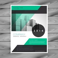 Modern brochure with geometric shapes Free Vector Graphic Design Flyer, Ad Design, Graphic Design Illustration, Flyer Design, Logo Design, Graphic Designers, Prospectus, Folders, Business Poster
