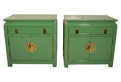 Cab Asian 25x16x25 ask $1009wg  ...  Century Lacquered Side Tables, Pair