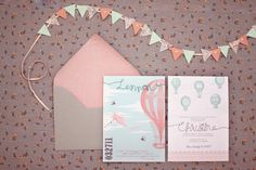 precious invites... could maybe add a vintage map as the envelope liner
