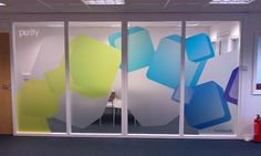 window frost film design mockup - its possible with color!