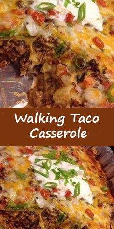 Walking Taco Casserole Mexican Menu, Mexican Dishes, Mexican Food Recipes, Dinner Recipes, Weeknight Recipes, Taco Casserole, Easy Casserole Recipes, Taco Bake, Casserole Dishes