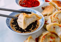Vegetable Dumplings, by thewoksoflife.com  Saving this in case I want to make my own dumpling skins.