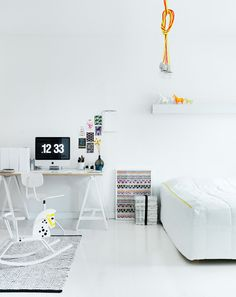 A home office in the bedroom