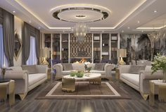 Luxury House Interior Design Tips And Inspiration House Ceiling Design, Ceiling Design Living Room, Home Design Living Room, Living Room Decor, House Design, Classic Living Room, Elegant Living Room, Living Room Modern, Luxury Homes Interior