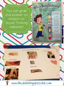 Whole Body Listening and a freebie collage activity!