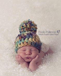 Crochet PATTERN  Crochet Hat Pattern  Hand Spun di PoshPatterns
