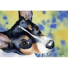 Rat Terrier Art - looks almost like my Beetoe!