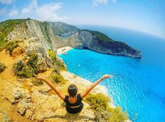 Social Nomad @melstraveldiary breathing in that fresh #zakynthos air! Zakynthos is known in #Greece for its beautiful beach crystal clear waters and ship wrecked boat. #europe