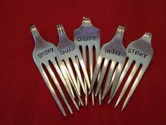 recycled silverware....Repurposed Vintage by BellaJacksonStudios, $28.95