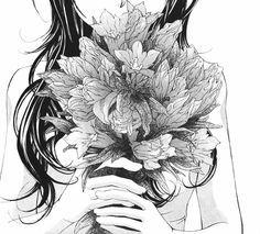 #manga #girl #flowers