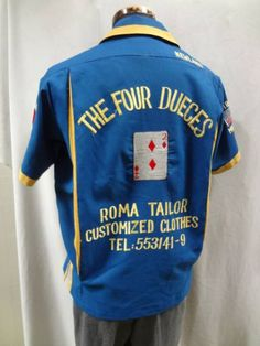 dff40ea0 close Vintage Bowling Shirts, Vintage Shirts, Work Shirts, Rockabilly, High  Fashion,