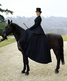 If I lived in Downton Abbey, I would wear this and do this ALL the time.