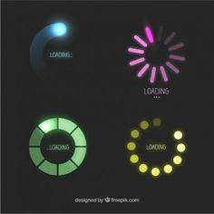 Iconos de carga de colores