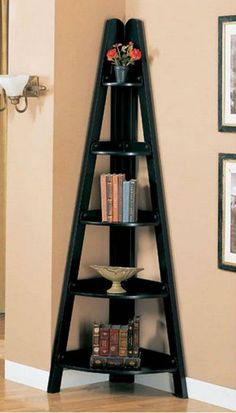 I also like these corner shelves, but finding a spare corner could be a problem...