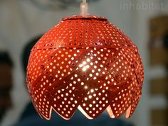 Check out the deal on Repurposed Colanders Lamp at Eco First Art