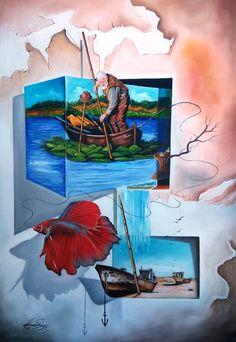 """""""FINAL QUEST"""" -Oil on canvas.131 x 91 cm Mihai Adrian Raceanu #art #painter #painting #surrealism"""