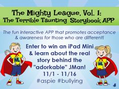 Enter to win an iPad Mini in celebration of Geek Club Book's new Storybook APP, The Terrible Taunting. #bullying #aspie #funforkids