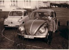 VW typ 113 y Fiat 600. Fines Década de 1950
