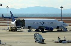 Anatomy of a Freighter 07 - The Boeing DreamLifter's entire tail section swings left for loading extra large items. (Photo credit: Flickr)