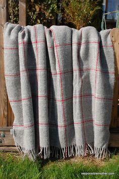 100 Scandinavian virgin wool blanket