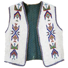 Sioux Beaded Vest. This and more rare and important Native American clothing for sale on CuratorsEye.com