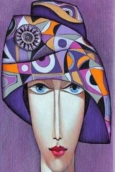 ñññññññññññññ Art Deco Artwork, Art Deco Posters, Abstract Face Art, Indian Contemporary Art, Van Gogh Art, Arte Popular, Naive Art, Whimsical Art, Mandala Art