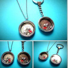 30mm MOTHER & SON LOVE filled Living Memory Locket gift necklace OR keyring