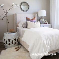 Lakeside Loft - Alice Lane Home Interior Design Bedroom Alcove, Home Bedroom, Girls Bedroom, Bedroom Ideas, Bedrooms, Master Bedroom, Bed Ideas, Decor Ideas, Arranging Bedroom Furniture