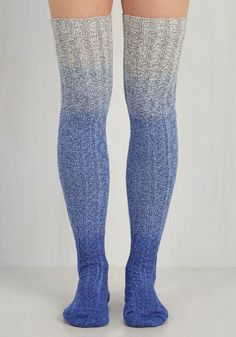 Carte Banff Thigh Highs in Blue Ombre. On your first day in Alberta, what should you do? #multi #modcloth
