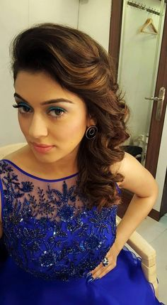 14 Celebrity Hairstyles That Are Perfect For Your Reception Look Lehenga Hairstyles, Hairstyles For Gowns, Open Hairstyles, Party Hairstyles, Celebrity Hairstyles, Bridal Hairstyles, Short Hairstyle, Bridal Hairstyle For Reception, Hairdo Wedding