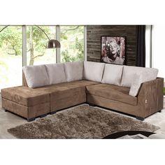 Um sofá confortável faz toda a diferença na sala de estar. Para aproveitar melhor o ambiente opte por modelos de canto.