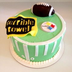 Pittsburgh Steelers birthday cake - Sweets by Millie