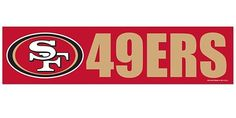 San Francisco 49ers Bumper Sticker NEW!! 3 x 11 Inches Free Shipping! Wincraft