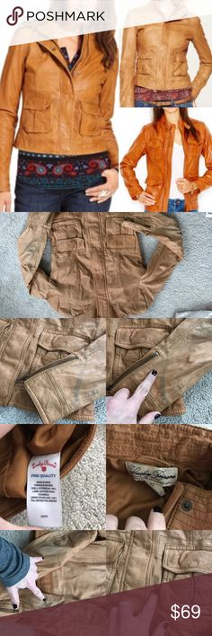 New lucky brand downtown gypsy leather jacket moto New with defects lucky brand leather jacket downtown gypsy moto. Size xs. Has some discolor on leather and priced accordingly. Please ask for extra photos if needed prior to buying 🚫NO TRADES Lucky Brand Jackets & Coats