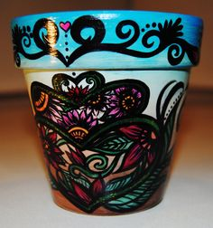 Hand-Painted Flower Pots  by AlanisCreative