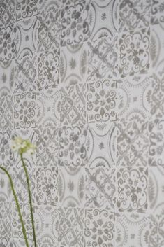 A gorgeous decorative design inspired by vintage ceramic wall tiles painted with a lovely watercolour effect.