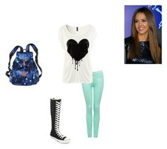 """""""Untitled #222"""" by shellyshway ❤ liked on Polyvore featuring moda, Forever New, Converse ve Victoria's Secret PINK"""