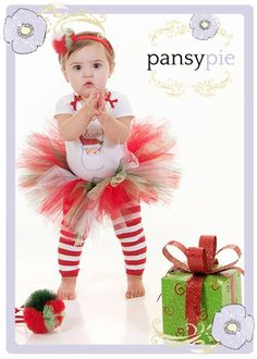 Christmas Tutu Outfit Baby Girl Christmas by PansyPieBoutique, $33.50