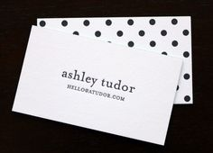 business cards by Paper Monkey Press. Fab!